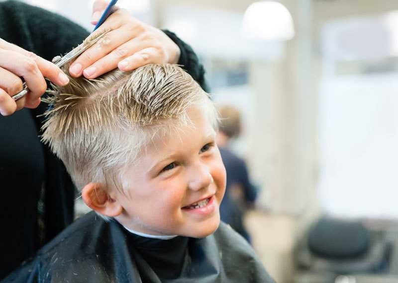 Child's hair cut